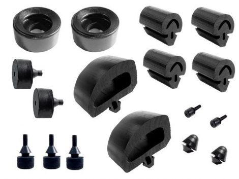 Snap In Bumper Kit 2331-D A Body 1967-70 [ DELUXE kit includes new stud ]