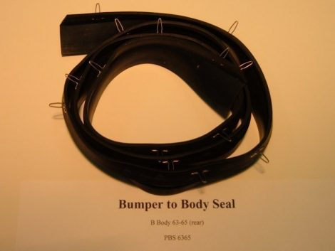 Bumper To Body Seal B Body Plymouth 1963-65