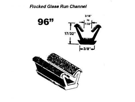 Vent Window Frame Glass Run Channel 1963-66 A Body