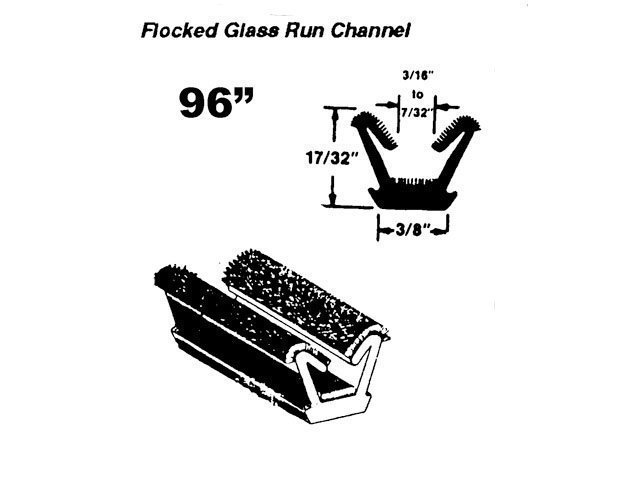 Vent Window Frame Glass Run Channel 1963-66 A Body