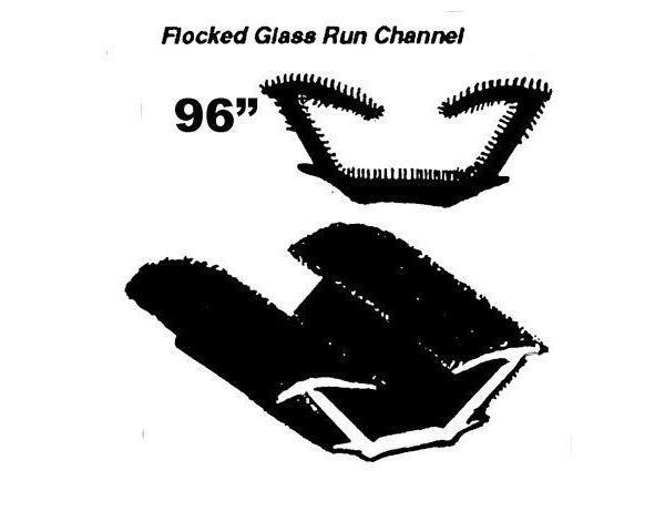 Tail Gate InnerGlass Run channel  1963-66 A Body S/W