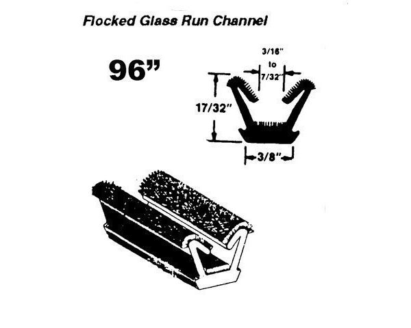 Glass Run Channel Front Door Vent Frame 1963-66 A Body
